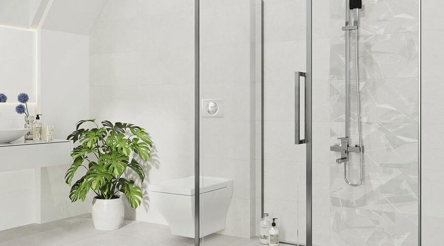 Steuler Fliesen Paperstone Badezimmer 30x60 zement