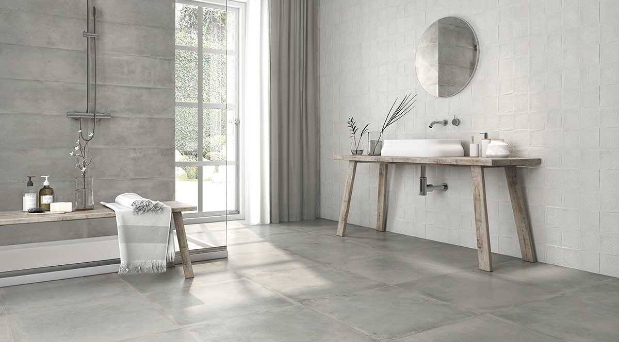 keraben remake concept blanco gris-25x70 gris 60x60 badezimmer
