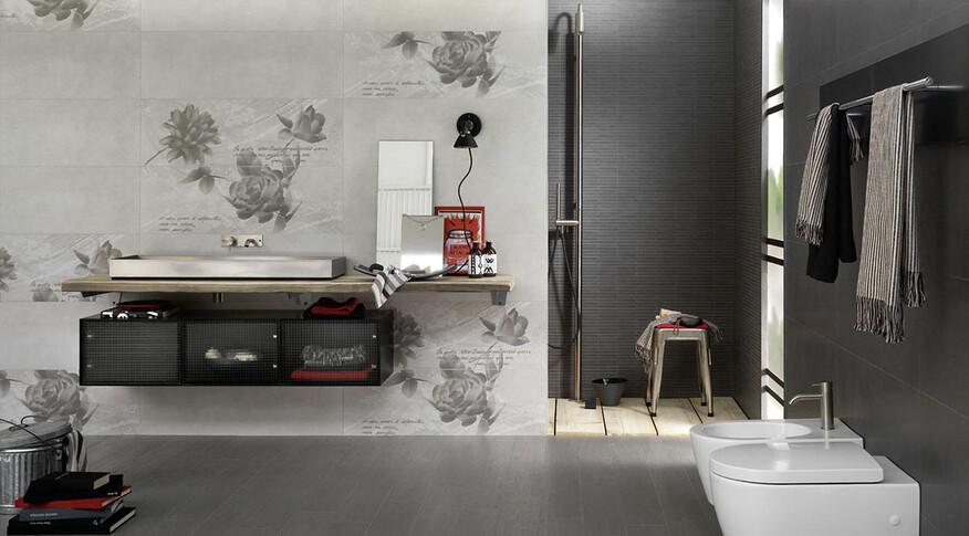 marazzi oficina7 32,5x97,7 antracite, grigio, decore