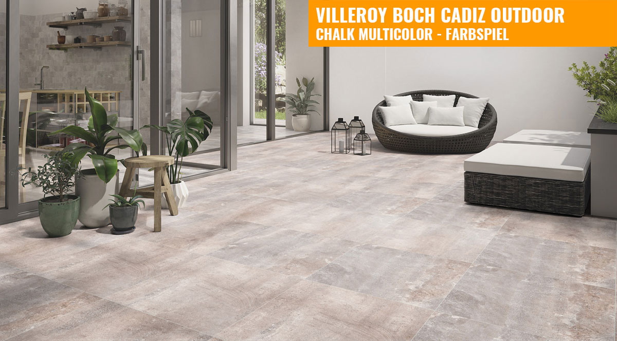 villeroy boch cadiz outdoor 60x60 chalk multicolor