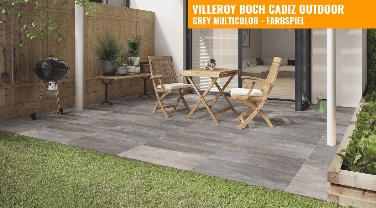 villeroy boch cadiz outdoor 40x80 grey multicolor