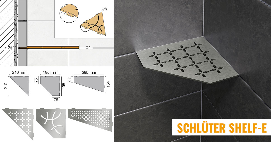 Schlüter Edelstahl Duschablage Duschregal Badezimmer Badablage Bad Ablage