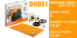 Schlüter DITRA-HEAT-E-DUO-S 0x0cm DHDS1