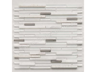 Ugo Collection Mosaik quartz white 30x30 cm QUARTZ WHITE | Bild 1
