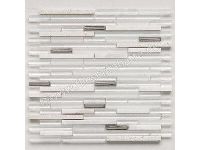 Ugo Collection Mosaik quartz white 30x30 cm QUARTZ WHITE | Bild 1