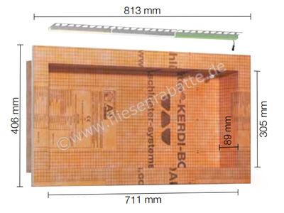 Schlüter KERDI-BOARD-NLT Nische und Ablagefläche für Wandbereiche mit Beleuchtung KB12NLTP5AE1 | Bild 1