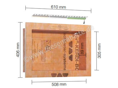 Schlüter KERDI-BOARD-NLT Nische und Ablagefläche für Wandbereiche mit Beleuchtung KB12NLTP4AE1   Bild 1
