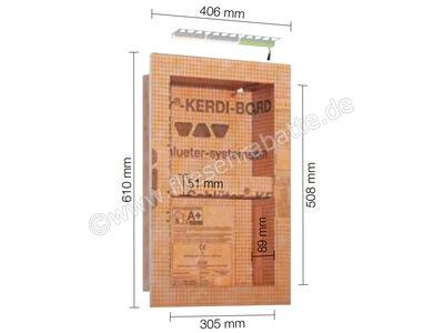 Schlüter KERDI-BOARD-NLT Nische und Ablagefläche für Wandbereiche mit Beleuchtung KB12NLTP2AE1 | Bild 1