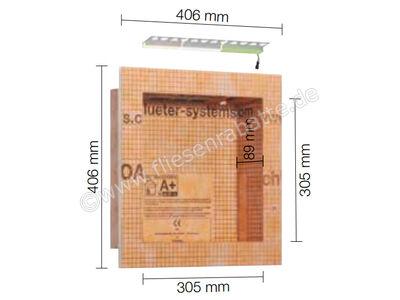 Schlüter KERDI-BOARD-NLT Nische und Ablagefläche für Wandbereiche mit Beleuchtung KB12NLTP1AE2   Bild 1