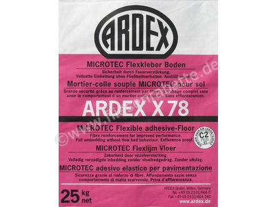 Ardex X 78 MICROTEC Flexkleber, Boden 54065 | Bild 1