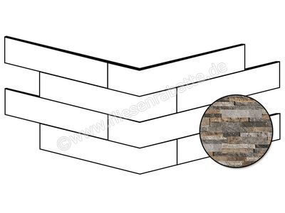 ceramicvision Brickup quarzite mix 16x40 cm CVBKPA01 | Bild 1