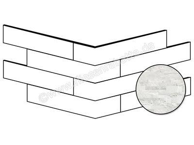 ceramicvision Brickup ocean white mix 16x40 cm CVBKPA81 | Bild 1