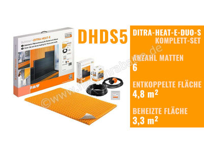 Schlüter DITRA-HEAT-E-DUO-S Beheizung DHDS5   Bild 1