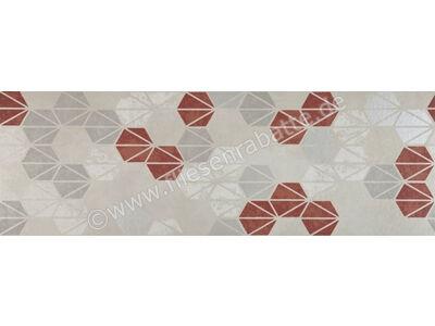 Marazzi Oficina7 bianco grigio rosso antracite 32.5x97.7 cm MKUX