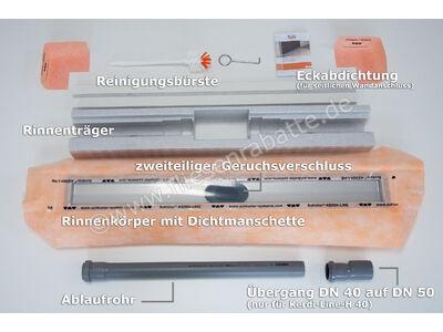 Schlüter KERDI-LINE-H 50 Rinnenkörper für Duschrinne KLH50GE150 | Bild 3