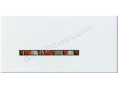 Steuler Pure White grau rot 20x40 cm 59203