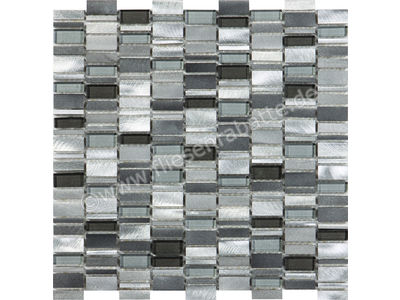 Ugo Collection Mosaik omen alu silver grey 30.1x30.5 cm OMEN ALU SILVER GREY | Bild 1