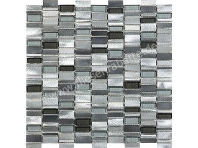 Ugo Collection Mosaik omen alu silver grey 30.1x30.5 cm OMEN ALU SILVER GREY | Bild 1