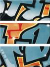 Steuler Graffiti petrolorange 33x80cm 33011