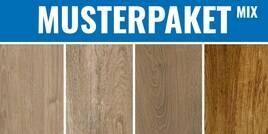 Holzoptik Mix Eiche dunkel wildeiche scottish - artwood clay - woodtrend iroko - silvis mogano 30x30cm MPHolzoptikMixEicheDunkel