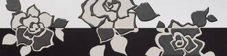 Villeroy & Boch Melrose weiß schwarz 15x60cm 1895 NW65 0