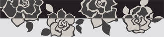 Villeroy & Boch Melrose weiß schwarz 7x30cm 1896 NW65 0