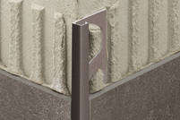 Schlüter QUADEC-TSR Aluminium strukturbeschichtet rostbraun Q100TSR