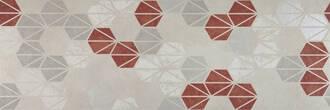 Marazzi Oficina7 bianco grigio rosso antracite 32.5x97.7cm MKUX
