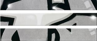 Steuler Graffiti schwarz-weiß 11x80cm Y33014001