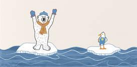 Steuler Tide Arctic Bears Eisbär auf Scholle 20x40cm Y59226001