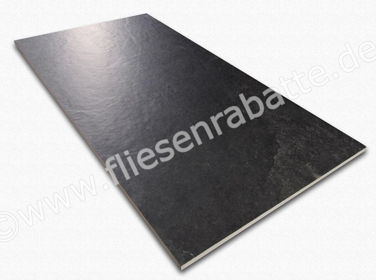 Powergres Fliesen xl style ardosia nero bodenfliese 30x60cm ardosia n3060 r10
